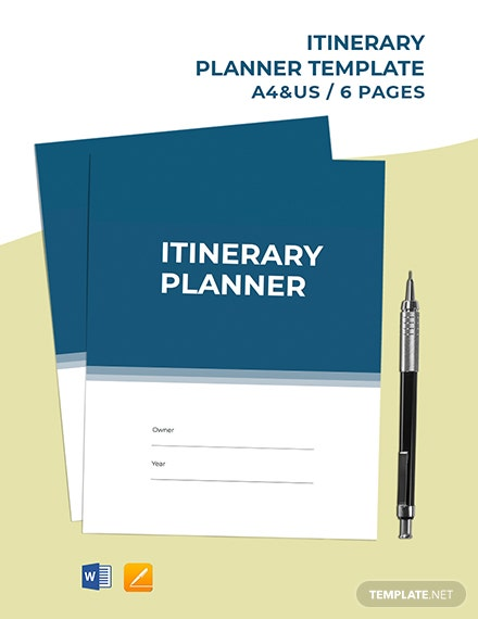 Daily Itinerary Planner Template