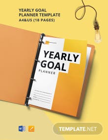 Yearly Goal Planner Template