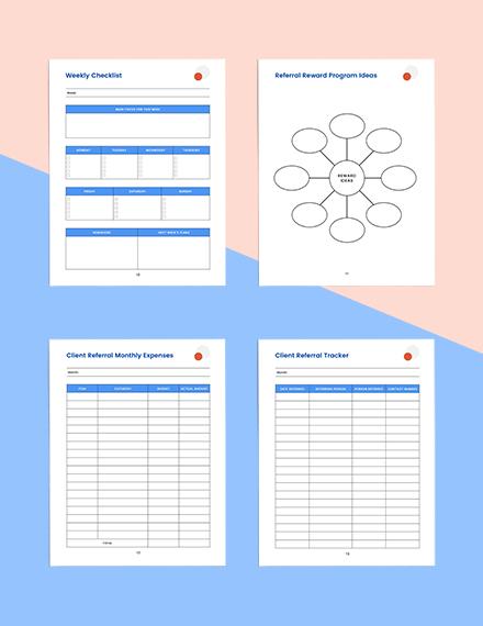 client referral marketing Planner Download