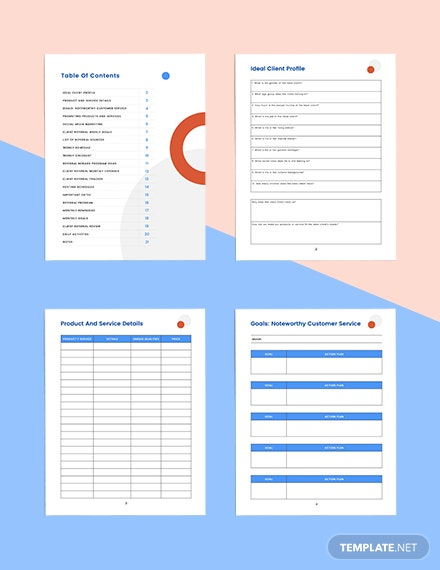 client referral marketing Planner Format