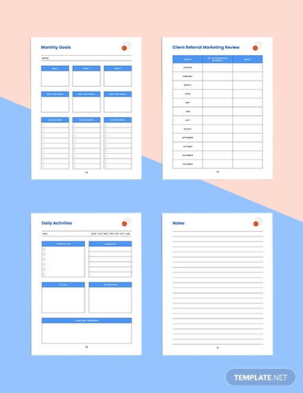 client referral marketing Planner Printable