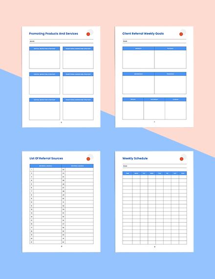 client referral marketing Planner Sample