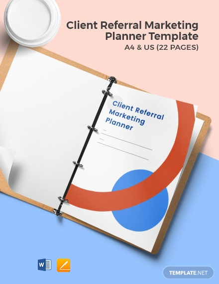 Client Referral Marketing Planner Template