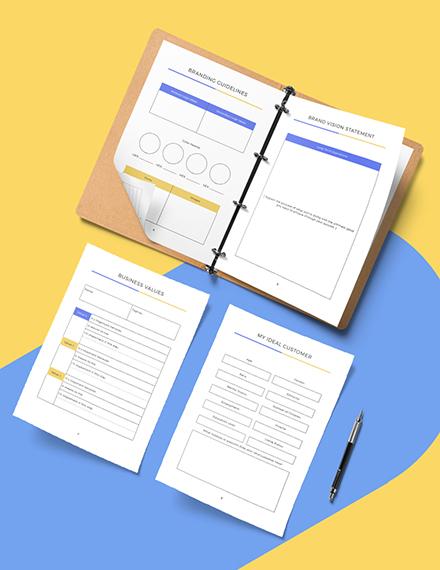 Branding Marketing Planner Download