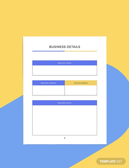 Branding Marketing Planner Format