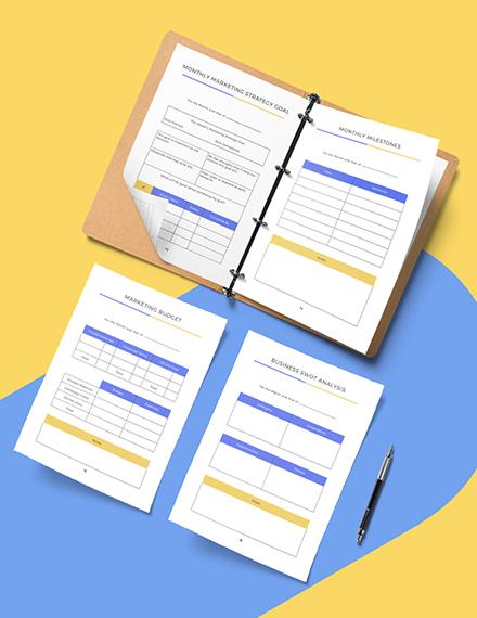 Editable Branding Marketing Planner