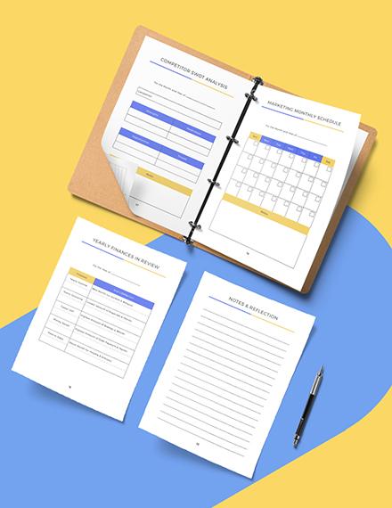 Printable Branding Marketing Planner