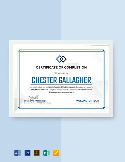 Free HVAC Experience Certificate Template