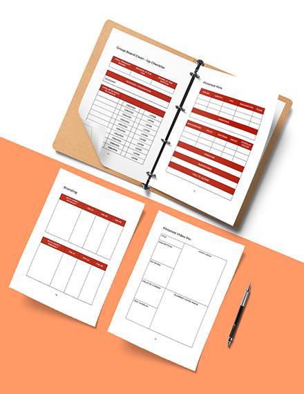 Pinterest Marketing Planner Template Editable
