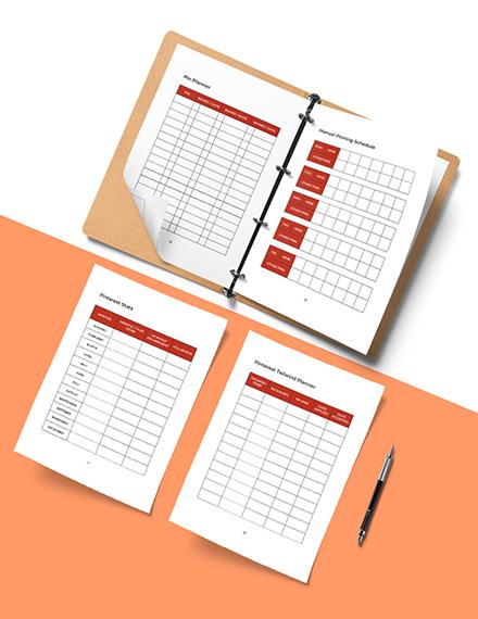 Pinterest Marketing Planner Template Printable