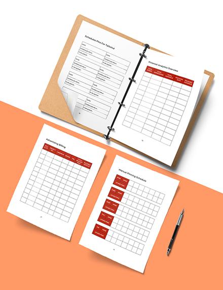 Pinterest Marketing Planner Template Instruction