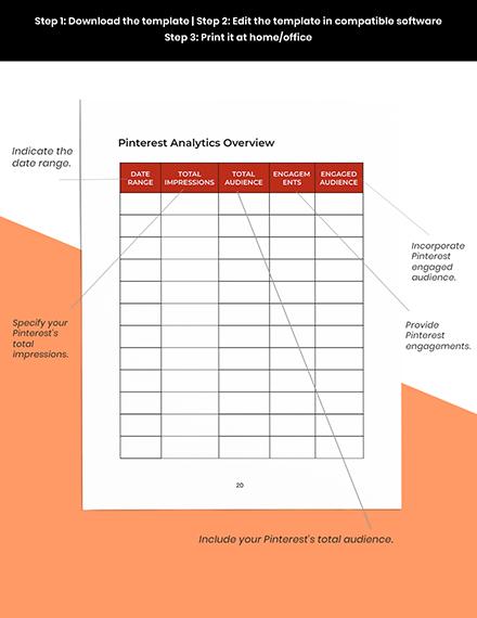 Pinterest Marketing Planner Template  Format
