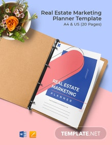 Real Estate Marketing Planner Template