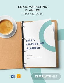 Email Marketing Planner Template