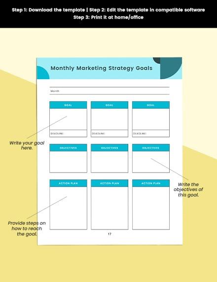 Marketing strategy Planner Editable