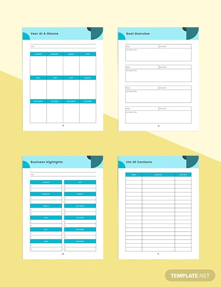 Marketing strategy Planner Printable