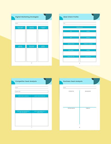 Marketing strategy Planner Sample