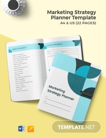Marketing Strategy Planner Template
