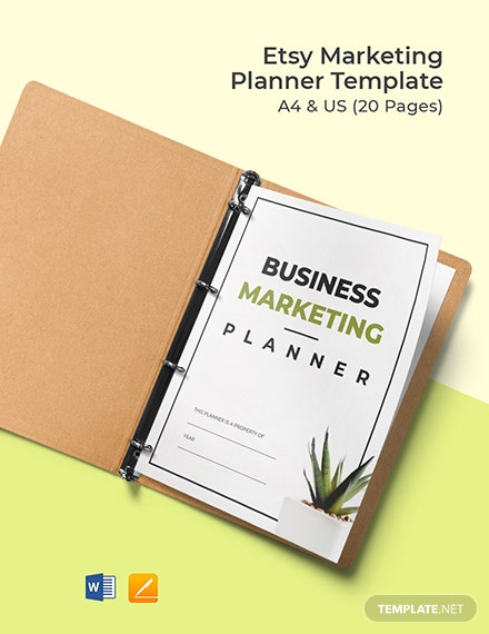 Etsy Marketing Planner Template