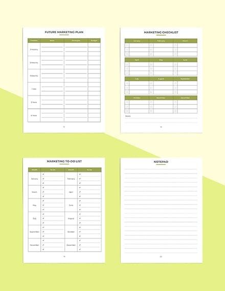Etsy Marketing Planner Marketing Checklist