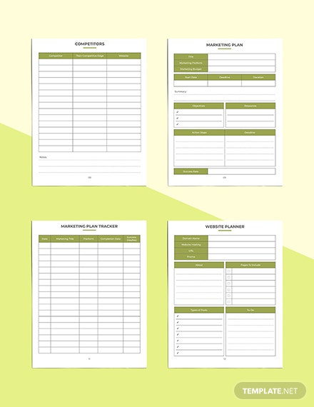 Etsy Marketing Planner Marketing Plan