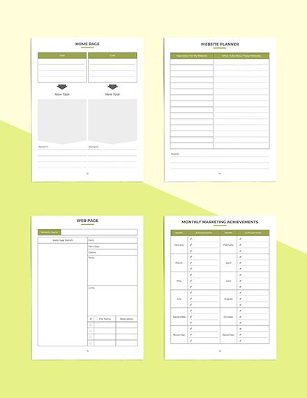 Etsy Marketing Planner Website Planner