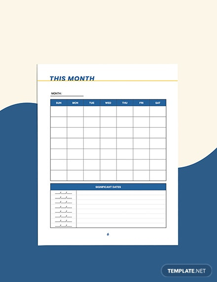 Sample small business marketing Planner