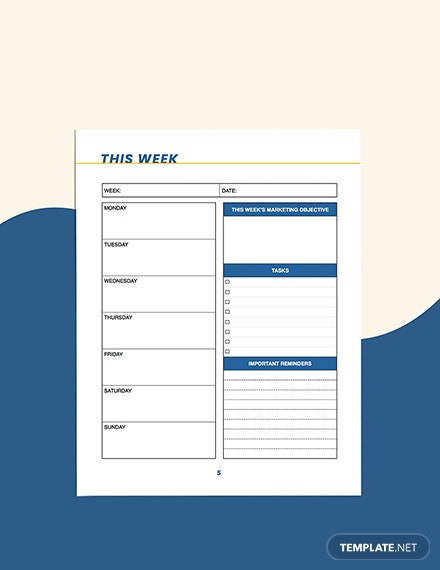 small business marketing Planner Download