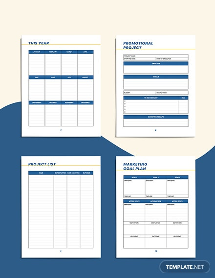 small business marketing Planner Example