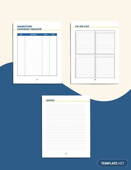 small business marketing Planner Overview