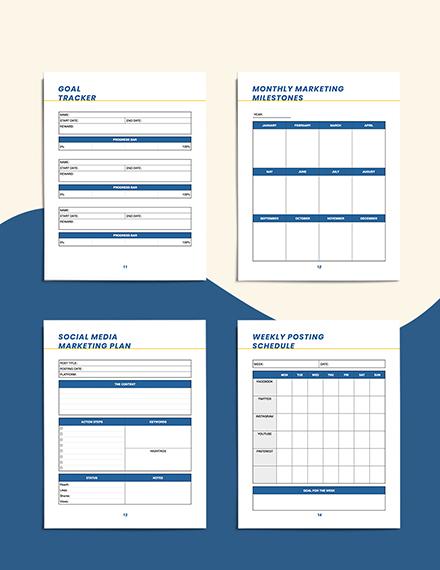 small business marketing Planner Tracker