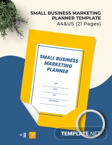 Small Business Marketing Planner Template
