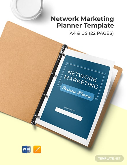 Network Marketing Planner Template