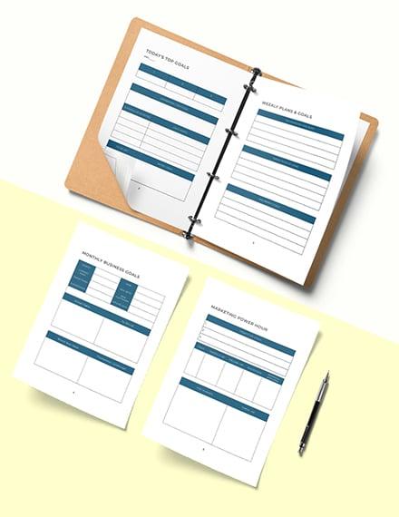 Network Marketing Planner Template Download