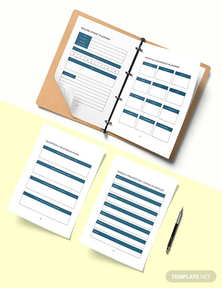 Network Marketing Planner Template Editable