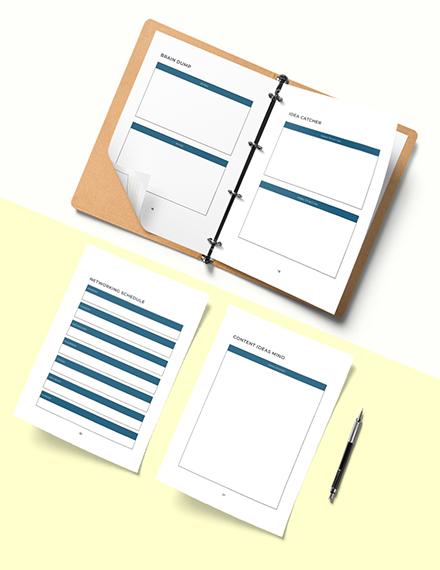 Network Marketing Planner Template  Instruction