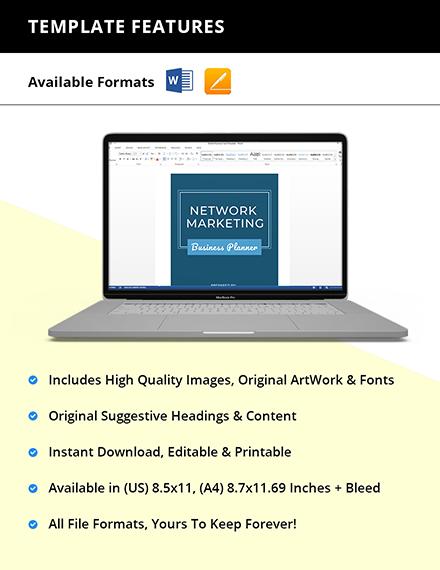 Network Marketing Planner Template Printable