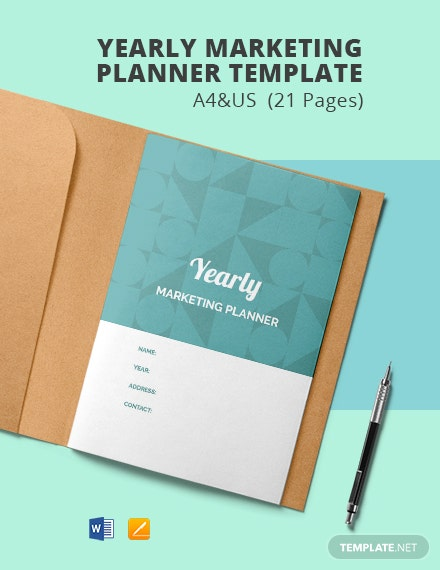 Yearly Marketing Planner Template