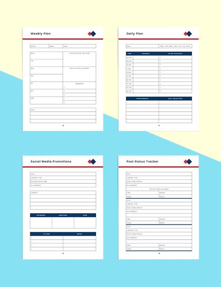 Monthly marketing Planner Editable
