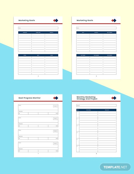 Monthly marketing Planner Example
