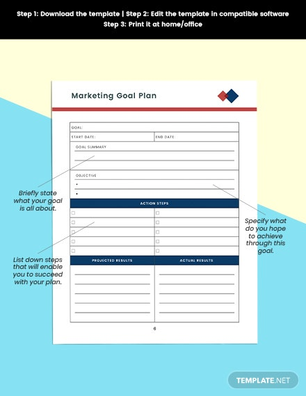Monthly marketing Planner Free