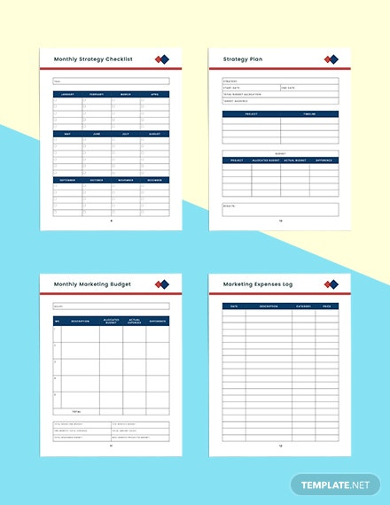 Monthly marketing Planner Printable