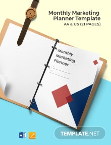 Monthly Marketing Planner Template