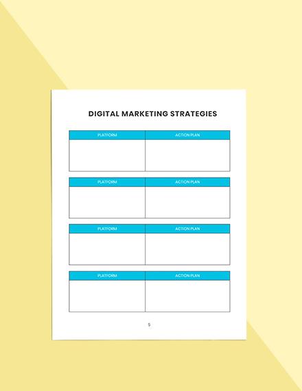 Weekly marketing Planner Editable