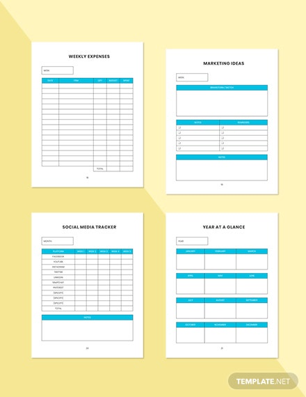 Weekly marketing Planner Format Weekly Expenses