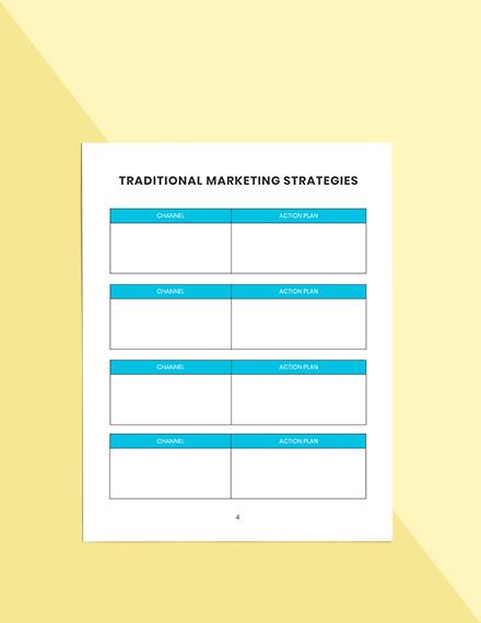 Weekly marketing Planner Format