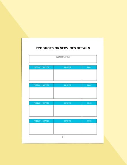 Weekly marketing Planner Sample