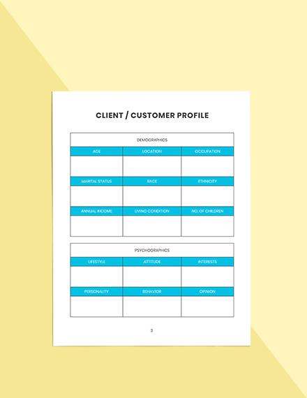Weekly marketing Planner Schedule