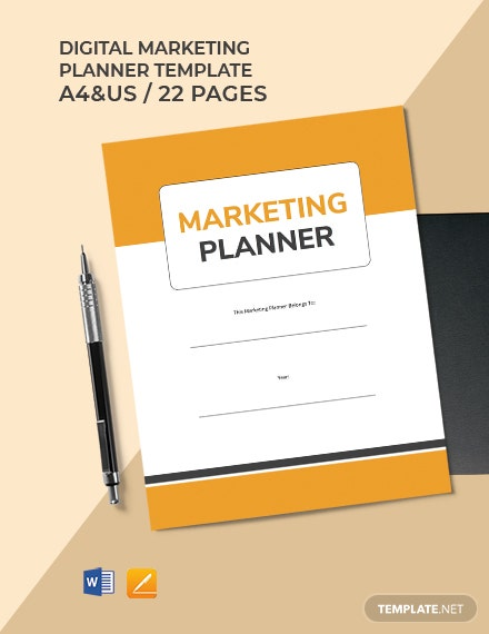 Digital Marketing Planner Template