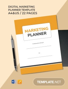 Digital Marketing Planner Template